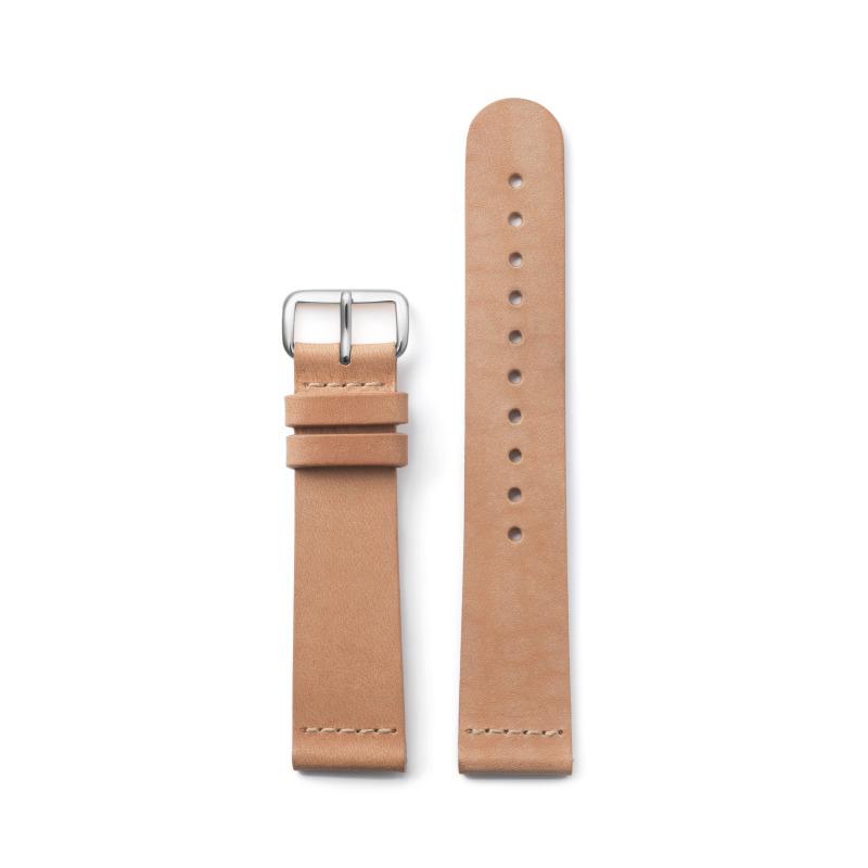 http://www.triwa.com - TRIWA Klockarmband Unisex Tan Classic – Silver 396.00 SEK