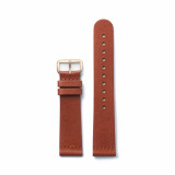 Brown Classic - Champagne Buckle from Leather in Straps