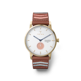 Triwa Coral Falken - 50% - Brown embroidered classic Gold