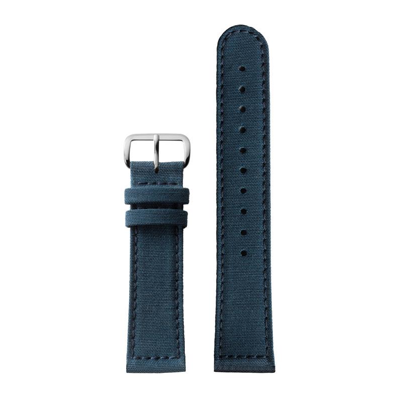 http://www.triwa.com - TRIWA Klockarmband Unisex Recycled Blue – Silver buckle 396.00 SEK