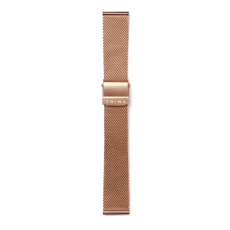 http://www.triwa.com - TRIWA Klockarmband Unisex Rose Gold Mesh Super Slim 476.00 SEK