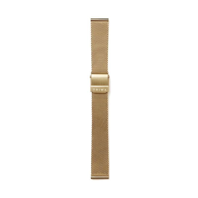 http://www.triwa.com - TRIWA Klocka Unisex Petite Gold Mesh 476.00 SEK