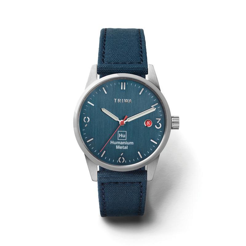 http://www.triwa.com - TRIWA Klocka Unisex Humanium 39 – Blue