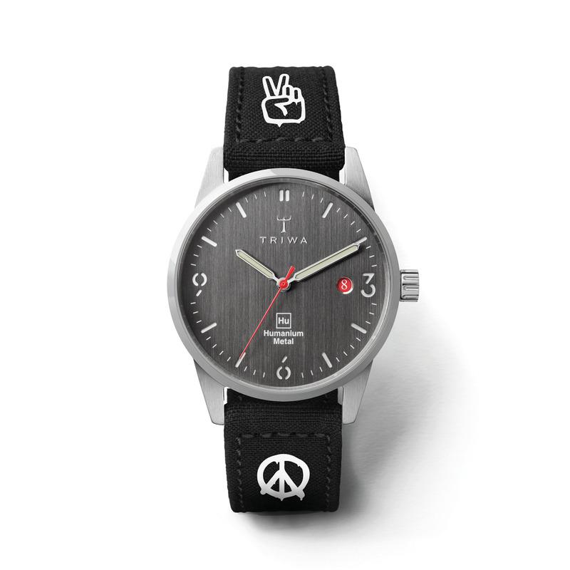 http://www.triwa.com - Limited edition Unisex Humanium 39 Black Peace