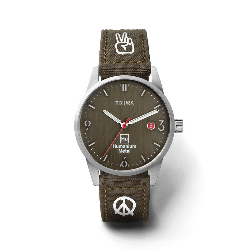 http://www.triwa.com - TRIWA Klocka Unisex Humanium 39 – Green Peace