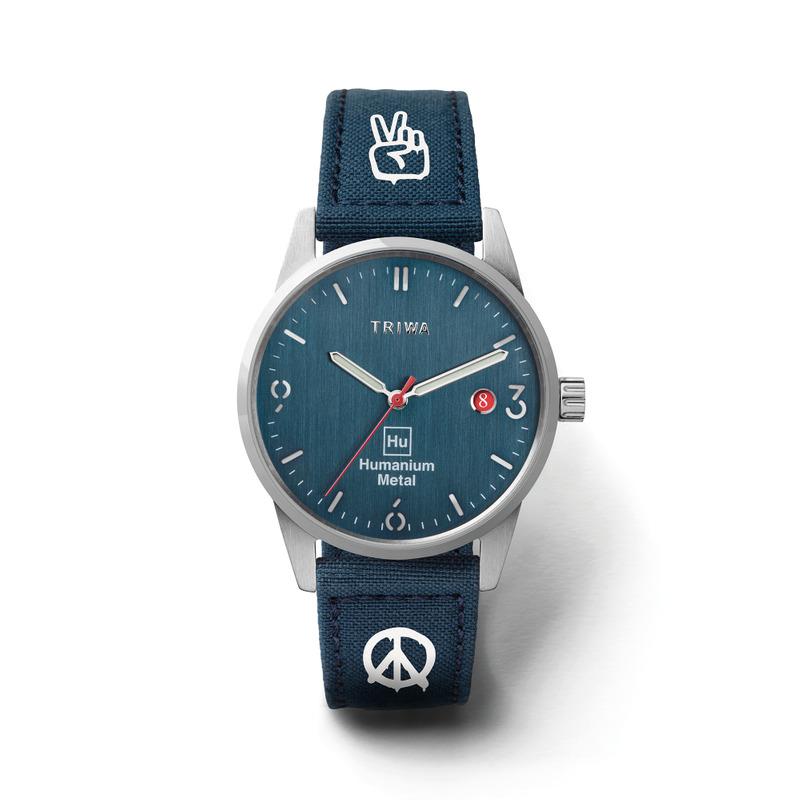 http://www.triwa.com - TRIWA Klocka Unisex Humanium 39 – Blue Peace