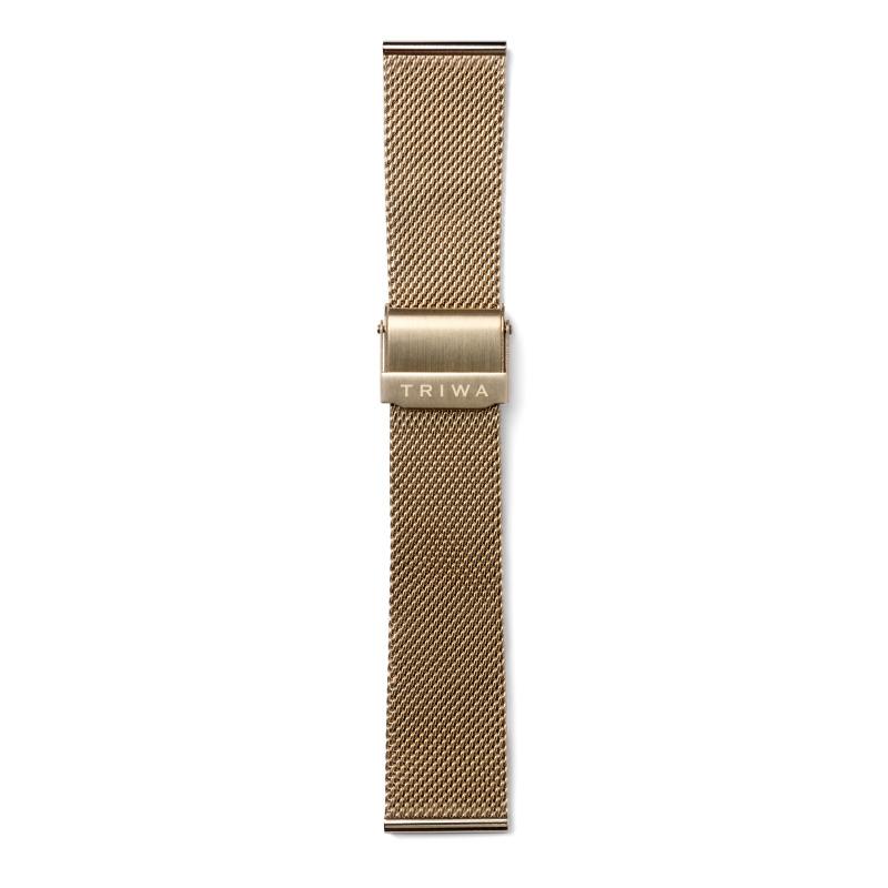 http://www.triwa.com - TRIWA Klockarmband Unisex Gold Mesh – Gold 476.00 SEK