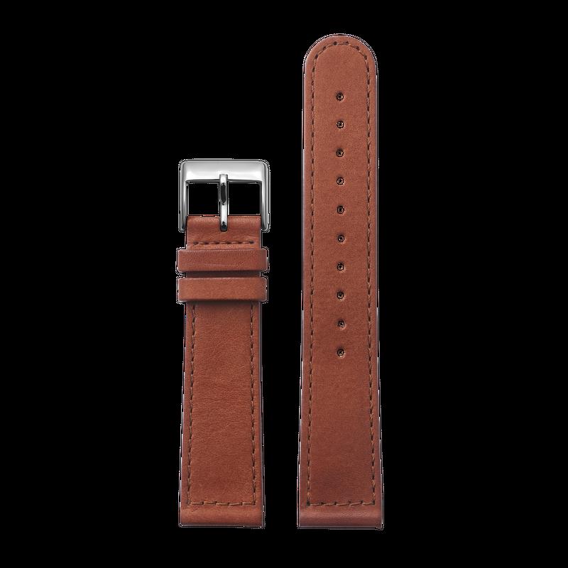 http://www.triwa.com - TRIWA Klockarmband Unisex Brown Sewn Classic- Silver 396.00 SEK