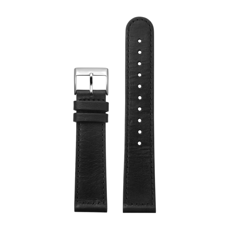 http://www.triwa.com - TRIWA Klockarmband Unisex Black Sewn Classic- Silver 396.00 SEK