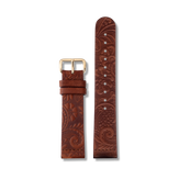 Triwa Brown Paisley Classic- Gold - Gold buckle