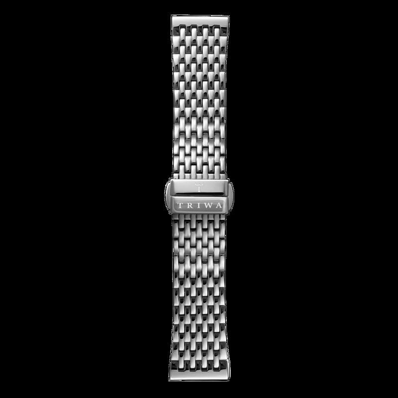 http://www.triwa.com - TRIWA Klockarmband Unisex Steel Brace- Silver 396.00 SEK