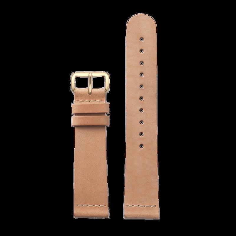 http://www.triwa.com - TRIWA Klockarmband Unisex Tan Classic – Gold 396.00 SEK